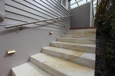 Colantoni Residence, Landscape Stairs. Designer by Island Workshop Studio, Constructed by Island Workshop.