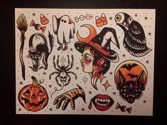 Today, millions of people have tattoos. From different cultures to pop culture enthusiasts, many people have one or several tattoos on their bodies. While a lot of other people have shunned tattoos… Halloween Tattoo Flash, Halloween Art, Halloween Themes, Feminine Tattoo Sleeves, Feminine Tattoos, Pretty Tattoos, Cool Tattoos, Body Art Tattoos, Sleeve Tattoos