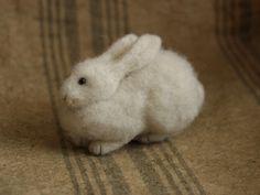 http://www.fadeeva.com/ needle-felted hare