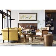 Crate And Barrel Chair Blake Grey Wash Lounge Chair With Cushion In Chairs  | Crate And