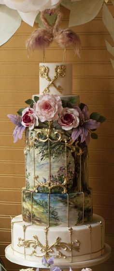 Over the top, showstopper, luxury wedding cake! Enjoy RUSHWORLD boards, WEDDING CAKES WE DO, WEDDING GOWN HOUND and UNPREDICTABLE WOMEN HAUTE COUTURE. Follow RUSHWORLD! We're on the hunt for everything you'll love! #WeddingCakesWeDo #LuxuryWeddingCake #WeddingCake
