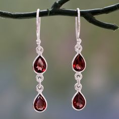 Novica Sterling silver dangle earrings, Protection Pendulums