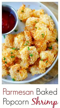 Parmesan Baked Popcorn Shrimp  Easiest and crispiest popcorn shrimp with no deep frying. Easy, healthy, super yummy | rasamalaysia.com