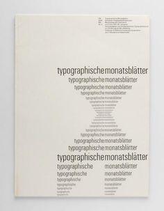 TM Typographische Monatsblätter, issue 5, 1961. Cover designer: Emil Ruder