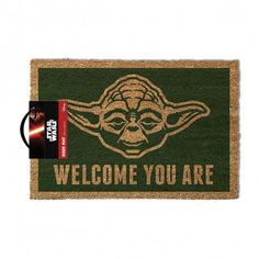 Star Wars Dørmatte Yoda Welcome You Are Funko Pop, Star Wars Yoda, Cadeau Star Wars, Barcelona, Star Wars Merchandise, Coir Doormat, Fantasy Castle, Fancy, Love Symbols
