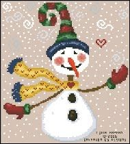 Free Cross Stitch Patterns: snowman