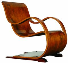 Nice Curvesse Chair, 1944 By Garth Chester (bent Plywood)