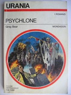 """The novel """"Psychlone"""" by Greg Bear was published for the first time in 1979. Cover art by Karel Thole for the Italian edition. Click to read a review of this novel!"""
