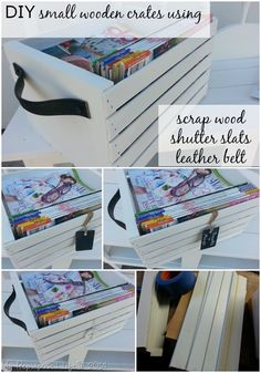 Easy DIY small wooden crates made with louvered door slats and scrap lumber by MyRepurposedLife.com