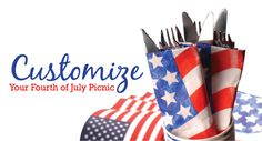 Make your #4thofjuly picnic or #barbecue memorable by adding custom #labels to the décor! Check out these ideas: