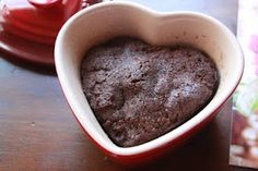 Here's the recipe to make the mini molten microwave cake:    1/2 c. chocolate cake mix  1/3 c. water.     Mix well in a cereal size bowl- microwave safe.  Drop 5 teaspoons of hot fudge onto the batter.  Microwave for 95 seconds.    Top with ice cream or whipped cream.  Yum.
