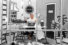 Wieden and Kennedy pop art office via Inthralld