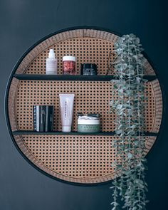 Beauty Pie Review What to Buy From Beauty Pie Round Rattan Bathroom Shelf Trouva Downstairs Bathroom, Bathroom Shelves, Small Bathroom, Beauty Pie, My Beauty, Bathroom Goals, Uneven Skin Tone, Floating Shelves, Rattan