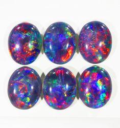 12.10Cts 6pcs Australian AAAAA Grade Opal triplet  SU1240