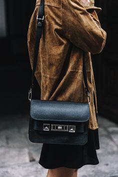 Suede and Proenza Schouler bag.