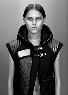 Anne Sofie Madsen, black and white, fashion , vest
