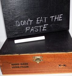Don't Eat the Paste: Chalkboard painted cigar boxes