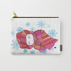 Snowflake girl Carry-All Pouch by seelas Organize Your Life, Pouches, Handicraft, Art Supplies, Carry On, Snowflakes, Coin Purse, Ipad, About Me Blog