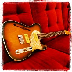 Telecaster thinline body and neck by Warmoth, Lollar P90 pickups