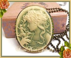 Victorian inspired Cameo w Fairy