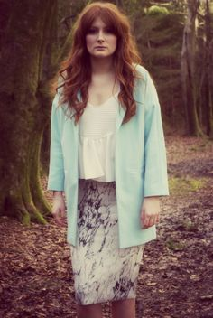 Front Cover  Jacket: Topshop Skirt: Zara Top: Zara Rings: Topshop