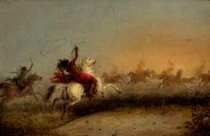 Cattura di Cavalli Selvaggi da Parte degli Indiani 1840's Jacob Miller, Native American, Miami, Indian, Photos, Painting, Art, Art Background, Pictures