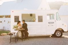Love the idea of an ice cream truck at your wedding
