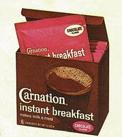 Carnation Instant Breakfast ~ Had one EVERY morning before school.  Still love them!