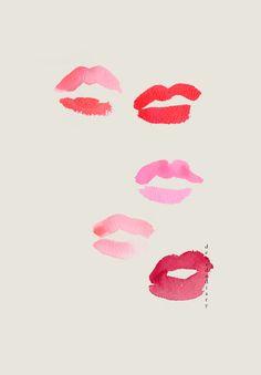 byIllustrator Bernadette Pascua.    Blog Post:Bright Lip«Illustration byDecade Diary