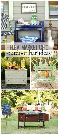 Check out these shabby chic bar cart ideas! Learn how to customize your party with rustic DIY party ideas! Add a vintage feel to your bar cart with distressed paint.