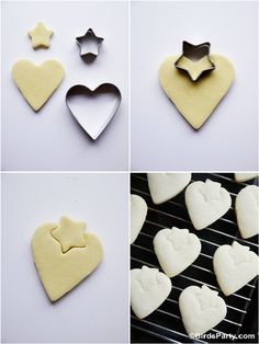 DIY Strawberry Shaped Decorated Cookies  by Bird's Party