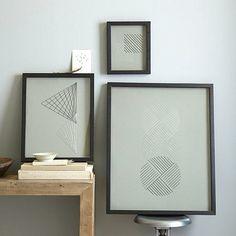 Simple Wanddeko f rs Esszimmer u coole Wandgestaltung f r stheten Wanddeko Esszimmer geometrisch wandkunst