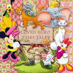 Friendly Scrap: New Freebie Fairy Tales Heroes Kit Disney Magic, Disney Art, Disney Pixar, Digital Scrapbooking, Scrapbooking Ideas, Scrapbook Cards, Design Elements, Fairy Tales, Art Pieces