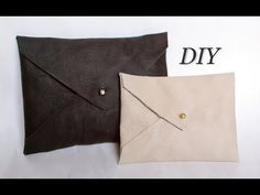 DIY ENVELOPE CLUTCH - EASY CHRISTMAS PRESENT IDEA - YouTube