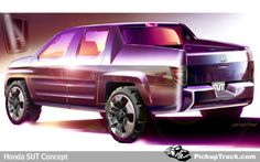 Honda Shows Sketch of SUT Concept - Sets Direction For Future Honda Production Truck Model