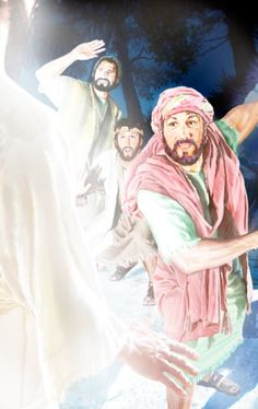 Pedro, Santiago y Juan durante la transfiguración