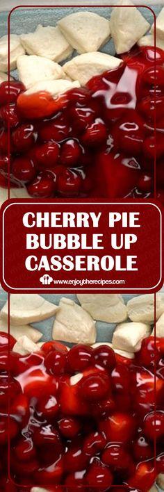 Cherry pie bubble up casserole enjoy the recipes recipes dessert easyrecipe casserole cherry farmers market quiche Cherry Desserts, Cherry Recipes, Köstliche Desserts, Pie Recipes, Sweet Recipes, Dessert Recipes, Cooking Recipes, Casserole Recipes, Breakfast Recipes