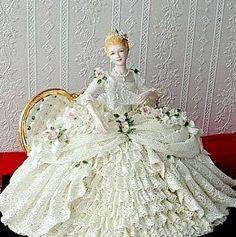 Dresden lace figurine ~Debbie Orcutt ❤