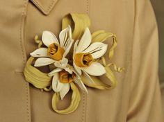 Leather flower daffodills
