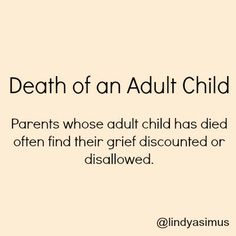 Information to help you deal with elderly parent on the death of an adult child http://www.compassionatefriends.org/brochures/death_of_an_adult_child.aspx