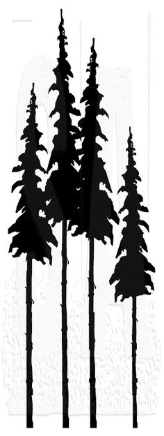 Tim Holtz Wood Mounted Stamp - Tall Trees Tim Holtz Wood Mounted Stamp: Tall TreesIf you love eclectic, vintage images, then these stamps are Pine Tree Silhouette, Mountain Silhouette, Silhouette Art, Tim Holtz, Kiefer Silhouette, Tree Stencil, Tree Svg, Aspen Trees, Trendy Tree