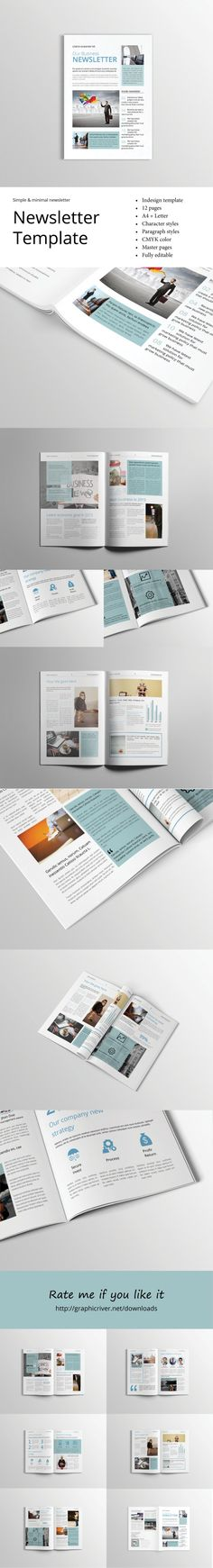 Professional & Corporate InDesign newsletter template that can be used for any type of industry. The clean and clear layout and free font type will help you enhance your message in a way that will captivate the reader!