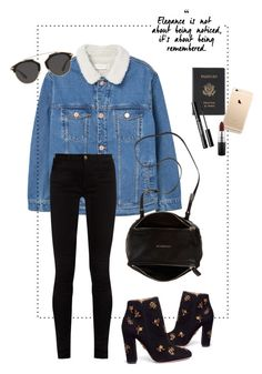 """""""Ready for Newyork"""" by mikaelaol ❤ liked on Polyvore featuring MANGO, Royce Leather, Christian Dior, Gucci, Aquazzura, Givenchy and MAC Cosmetics"""