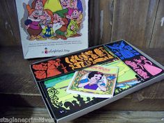 Walt Disney Vintage Colorform Snow White and The Seven Dwarves Set Cartoon Kit | eBay