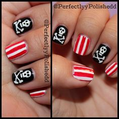 pirate #nail #nails #nailart