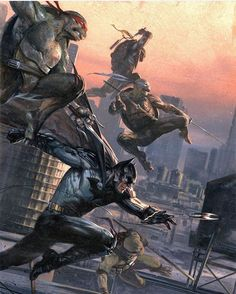 """""""How rad is this piece by the incredible Gabriele Dell'otto! You certainly wouldn't want to be up against this lot, that's for sure! Unfortunately no…"""""""