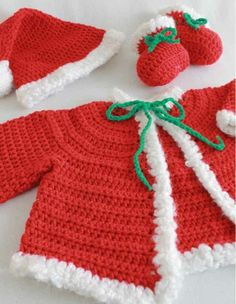 Picture of Santa Baby Set Crochet Pattern
