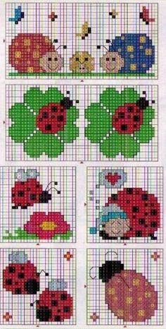 This Pin was discovered by Lau 123 Cross Stitch, Simple Cross Stitch, Cross Stitch Alphabet, Cross Stitch Designs, Cross Stitch Patterns, Bead Loom Patterns, Beading Patterns, Embroidery Patterns, Cross Stitching