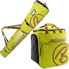BRUBAKER Set de ski 'Champion' – Série limitée – Housse à skis et Sac à chaussures de ski pour 1 Paire de skis + Bâtons + Chaussures +…