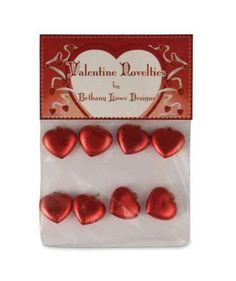 Bethany Lowe Valentine's Day - Mini Red Heart Ornament Set